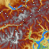 Nearby Forecast Locations - Fiesch - Mapa