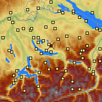 Nearby Forecast Locations - Hinwil - Mapa