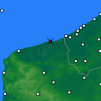 Nearby Forecast Locations - Dunkerque - Mapa