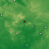 Nearby Forecast Locations - Alenzón - Mapa