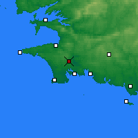 Nearby Forecast Locations - Quimper - Mapa