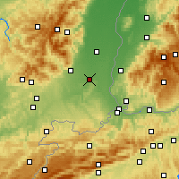 Nearby Forecast Locations - Mulhouse - Mapa