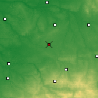 Nearby Forecast Locations - Châteauroux - Mapa