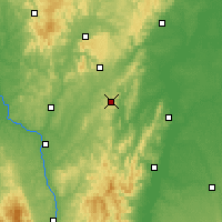 Nearby Forecast Locations - Mont-Saint-Vincent - Mapa