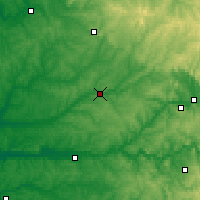Nearby Forecast Locations - Périgueux - Mapa