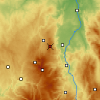 Nearby Forecast Locations - Puy de Dôme - Mapa