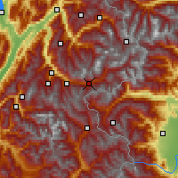 Nearby Forecast Locations - Modane - Mapa