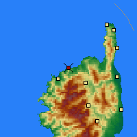 Nearby Forecast Locations - L'Île-Rousse - Mapa