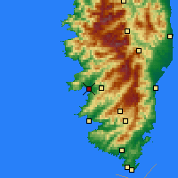 Nearby Forecast Locations - Ajaccio - Mapa