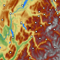 Nearby Forecast Locations - La Clusaz - Mapa