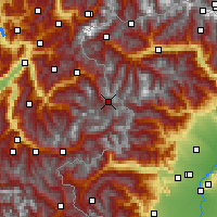 Nearby Forecast Locations - Val-d'Isère - Mapa