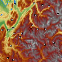Nearby Forecast Locations - Les Trois Vallées - Mapa