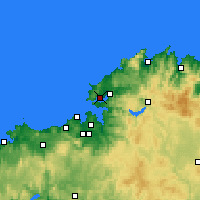 Nearby Forecast Locations - Ferrol - Mapa