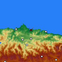 Nearby Forecast Locations - Gijón - Mapa