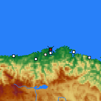 Nearby Forecast Locations - Santander - Mapa