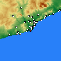 Nearby Forecast Locations - El Prat de Llobregat - Mapa