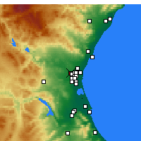 Nearby Forecast Locations - Valencia - Mapa