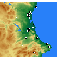 Nearby Forecast Locations - Játiva - Mapa