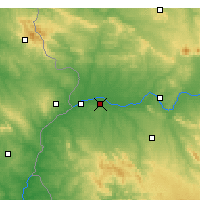 Nearby Forecast Locations - Talavera la Real - Mapa