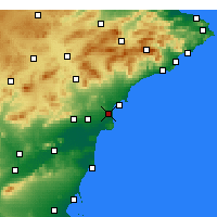 Nearby Forecast Locations - Alicante - Mapa