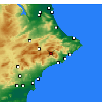 Nearby Forecast Locations - Sierra de Aitana - Mapa