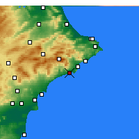 Nearby Forecast Locations - Benidorm - Mapa