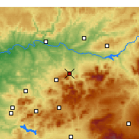Nearby Forecast Locations - Jaén - Mapa