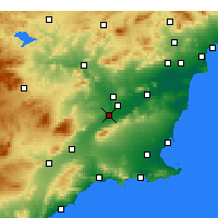 Nearby Forecast Locations - Alcantarilla - Mapa