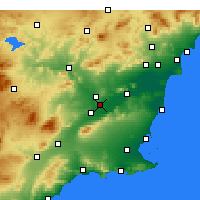 Nearby Forecast Locations - Murcia - Mapa