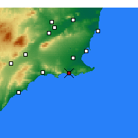 Nearby Forecast Locations - Cartagena - Mapa