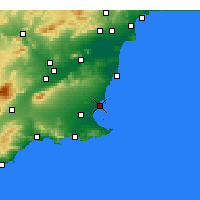 Nearby Forecast Locations - San Javier - Mapa