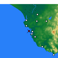 Nearby Forecast Locations - Cádiz - Mapa