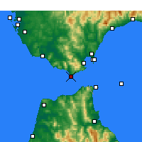 Nearby Forecast Locations - Tarifa - Mapa