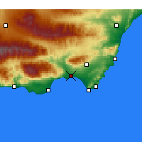 Nearby Forecast Locations - Almería - Mapa