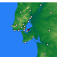 Nearby Forecast Locations - Montijo - Mapa