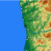 Nearby Forecast Locations - Oporto - Mapa
