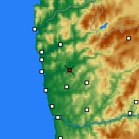 Nearby Forecast Locations - Braga - Mapa