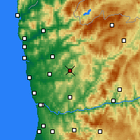 Nearby Forecast Locations - Guimarães - Mapa