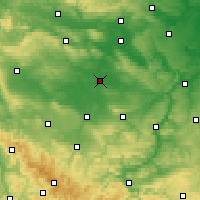 Nearby Forecast Locations - Sömmerda - Mapa
