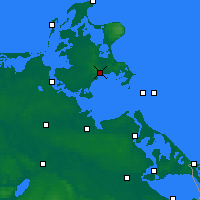 Nearby Forecast Locations - Rügen - Mapa