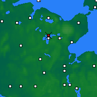 Nearby Forecast Locations - Plön - Mapa