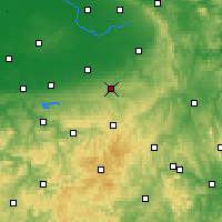 Nearby Forecast Locations - Büren - Mapa