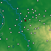 Nearby Forecast Locations - Mülheim - Mapa