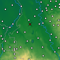 Nearby Forecast Locations - Mönchengladbach - Mapa