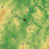 Nearby Forecast Locations - Fritzlar - Mapa