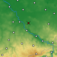 Nearby Forecast Locations - Großenhain - Mapa