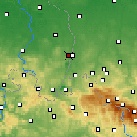 Nearby Forecast Locations - Görlitz - Mapa