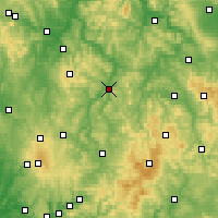 Nearby Forecast Locations - Bad Hersfeld - Mapa
