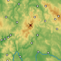 Nearby Forecast Locations - Rhön - Mapa
