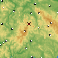 Nearby Forecast Locations - Kaltennordheim - Mapa